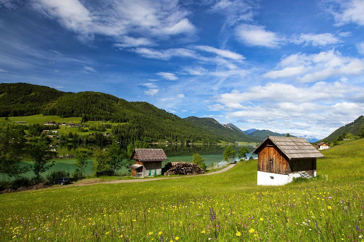 Naturpark-Weissensee-Aussichtspunkt-Almidylle-Wandern-Radfahren-Wanderrouten-Badeurlaub-Landschaftsbild-12