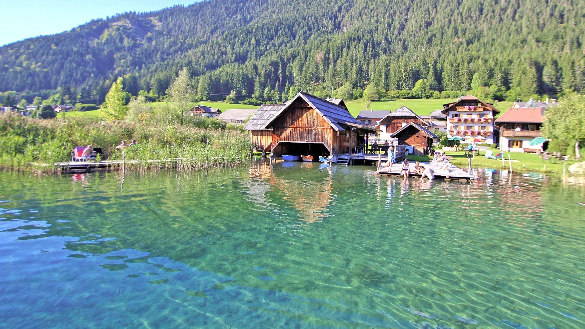 Naturpark-Weissensee-Badeurlaub-Familienurlaub-Eigener-Badesteg-Urlaub-mit-Hund-Ferienwohnungen-Hoffmann-5