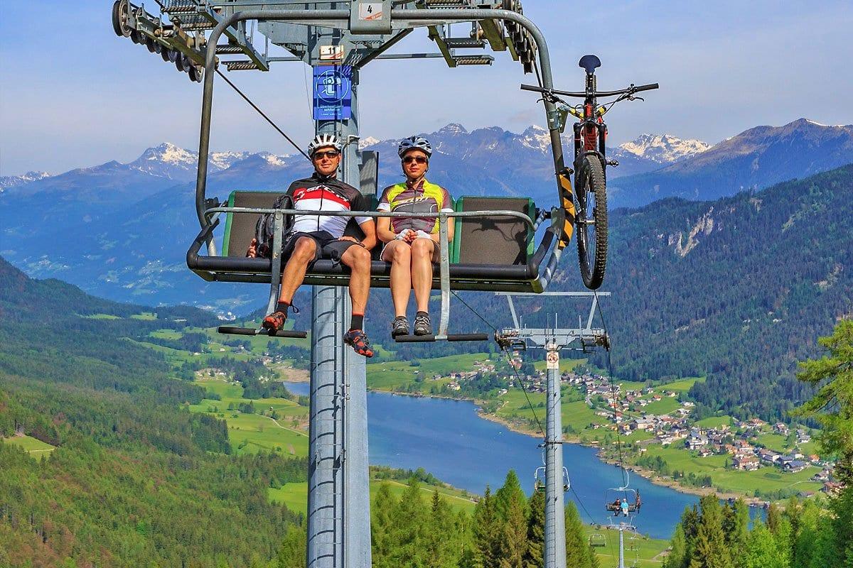 Naturpark-Weissensee-Radfahren-Mountainbiken-Berglift-Naturkulisse-Ferienwohnungen-Hoffmann-3