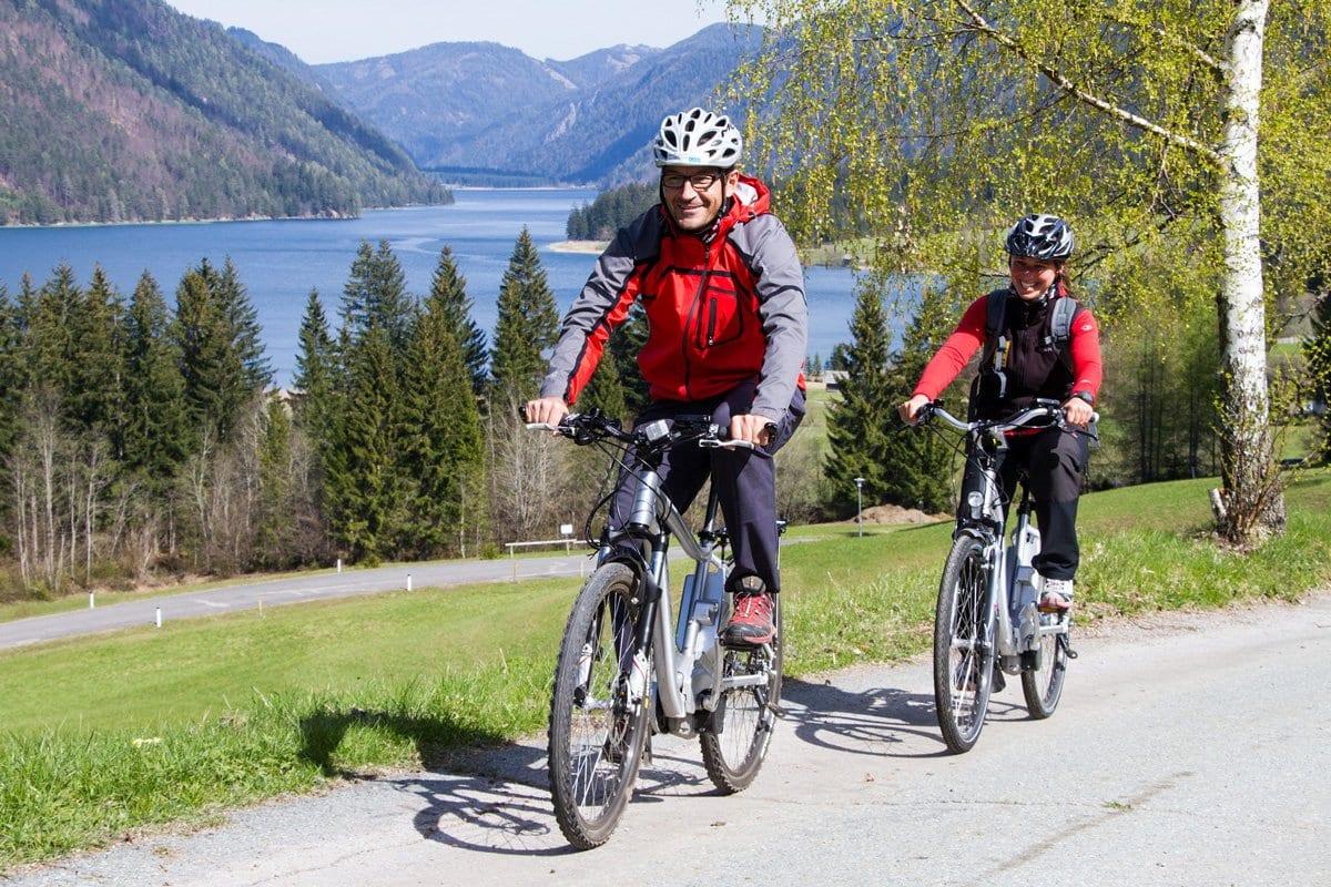 Weissensee-E-Bike-Radfahren-Naturelebnis-Aktiv-Urlaub-Aussichtspunkt-7