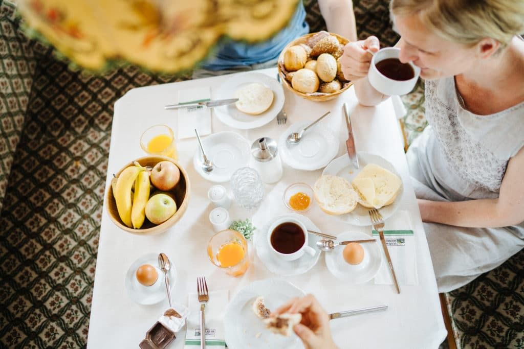 Frühstücksecke beim Aufwortn