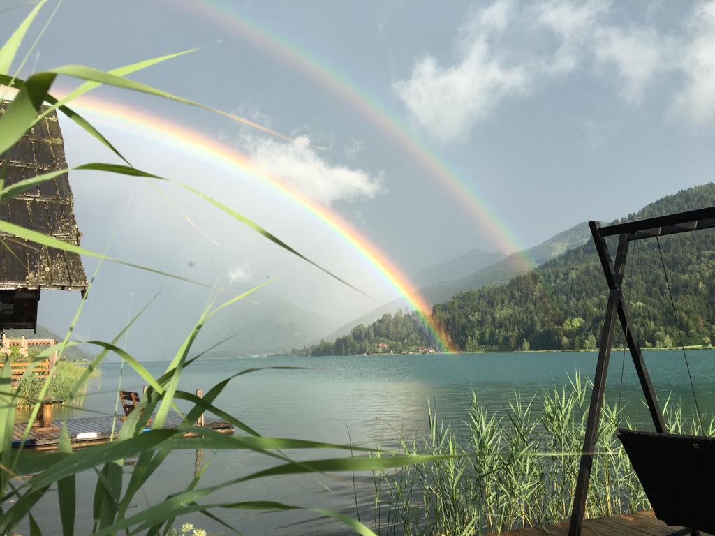 Regenbogen über den Weissensee