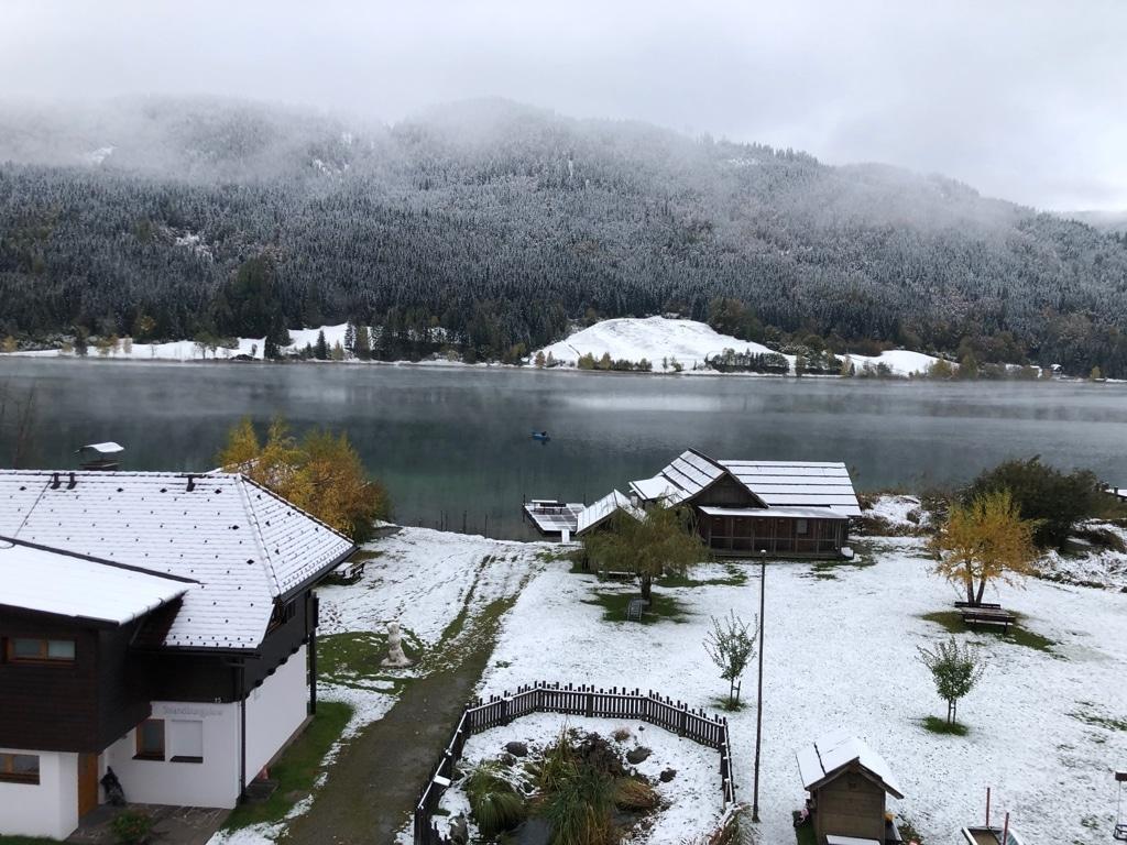 Wintereinbruch am Weissensee