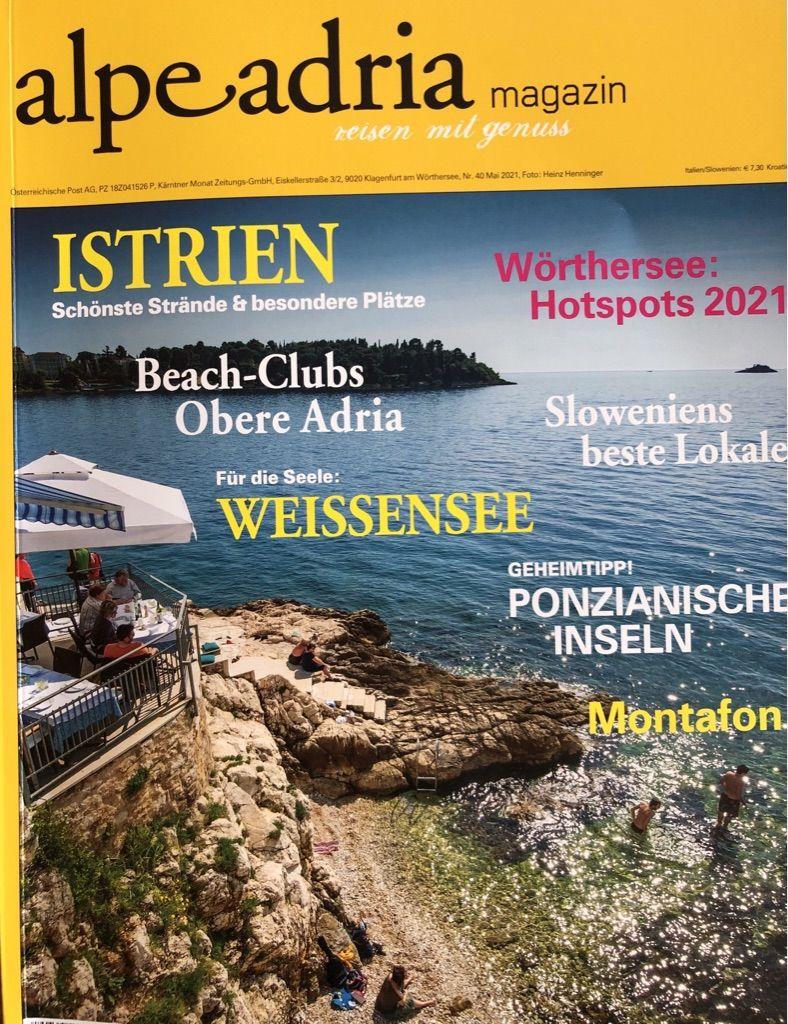 Druckfrisch im neuen Alpe Adria Magazin
